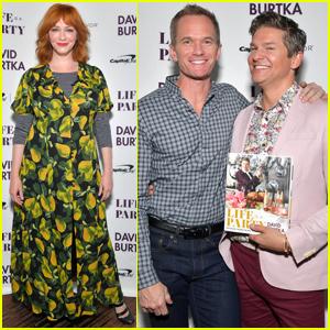 Neil Patrick Harris & Christina Hendricks Support David Burtka at Cookbook Launch Party