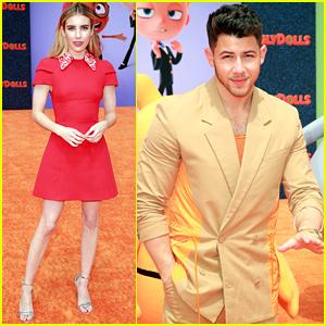 Nick Jonas & Emma Roberts Get Colorful for 'UglyDolls' Premiere!