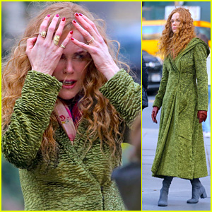 Nicole Kidman Films a Dramatic Scene for 'The Undoing' in NYC