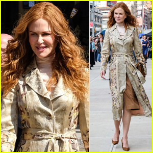 Nicole Kidman Dons Tan, Floral-Print Coat for 'The Undoing' Scene