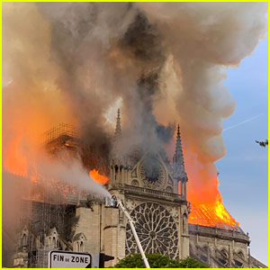 Celebrities React to Fire at Notre Dame Cathedral in Paris