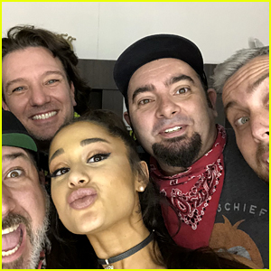 NSYNC (Minus Justin Timberlake) Posts Selfie with Ariana Grande Ahead of Coachella Set