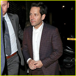 Paul Rudd Enjoys a Night Out in London While Promoting 'Avengers: Endgame'