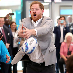 Prince Harry Participates in Activities at Barking & Dagenham Future Youth Zone