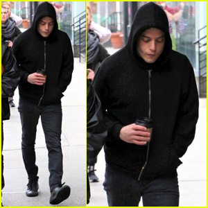 Rami Malek Gets Into Character on 'Mr. Robot' Set in NYC