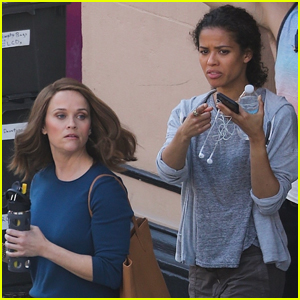 Reese Witherspoon & Gugu Mbatha-Raw Spend the Day Filming 'The Morning Show'