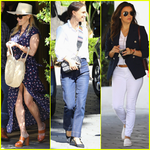 Reese Witherspoon Grabs Lunch with Natalie Portman & Eva Longoria!