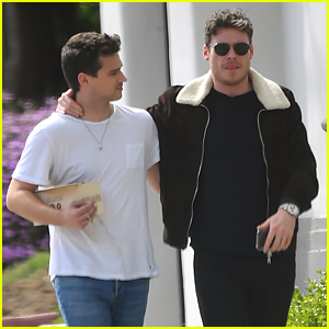 Richard Madden Wraps Arm Around Brandon Flynn During Errands Run