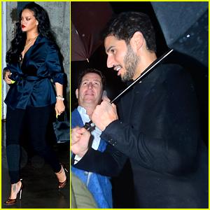 Rihanna Enjoys a Dinner Date with Boyfriend Hassan Jameel