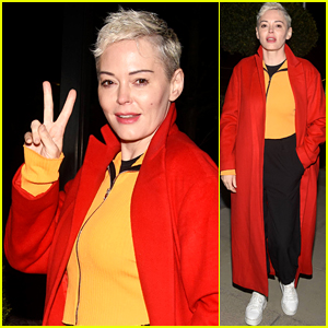 Rose McGowan Strikes a Pose While on Tour in the UK!