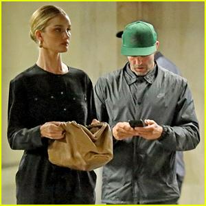 Rosie Huntington-Whiteley & Jason Statham Coordinate Their Outfits for Errand Run