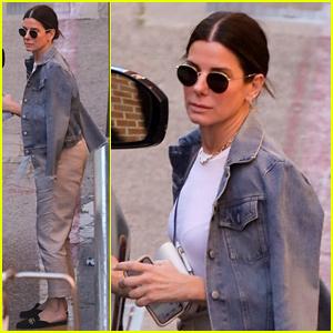 Sandra Bullock Dons Denim Jacket for Beverly Hills Errand