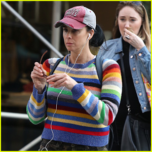 Sarah Silverman Sports Striped Sweater While Shopping in NYC
