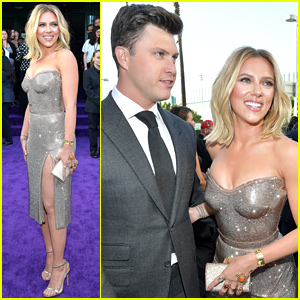 Scarlett Johansson Gets Support From Colin Jost at 'Avengers: Endgame' Premiere
