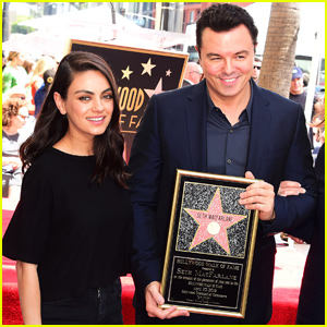 Seth MacFarlane Gets Support From Mila Kunis at Hollywood Walk Of Fame Ceremony