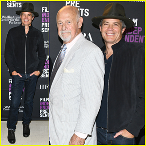 Timothy Olyphant Steps Out To Promote 'Deadwood' Movie - Watch Teaser!