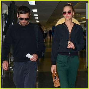 Tobey Maguire & Girlfriend Tatiana Dieteman Travel Out of LA Together