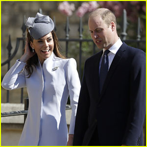 Prince William & Kate Middleton Attend Easter Sunday Services