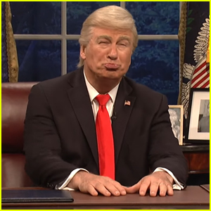 Alec Baldwin Returns to 'SNL' to Sing About Trump's America - Watch Now!