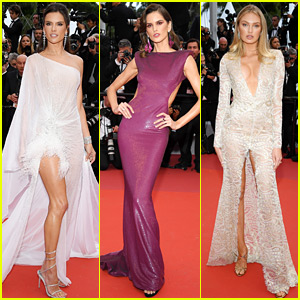 Alessandra Ambrosio, Izabel Goulart, & Romee Strijd Look Gorgeous for Cannes Film Fest Opening!
