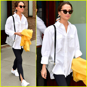 Alicia Vikander Keeps It Casual For Afternoon Outing in NYC