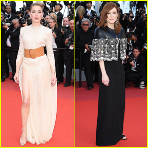 Amber Heard & Julianne Moore Stun at 'Les Miserables' Cannes Premiere!