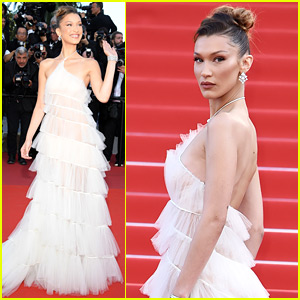 Bella Hadid Makes a Stunning Arrival on the Cannes Red Carpet