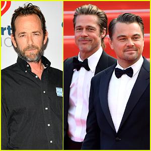 Brad Pitt & Leonardo DiCaprio Recall Working With Luke Perry