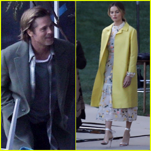 Brad Pitt & Margot Robbie Do a Photo Shoot for 'Once Upon a Time in Hollywood'!