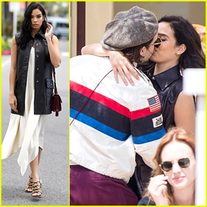 Brooklyn Beckham Steals a Kiss From Girlfriend Hana Cross in Cannes