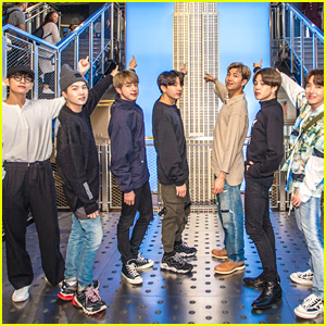 BTS Pose For Pics at Empire State Building Ahead of Live Event