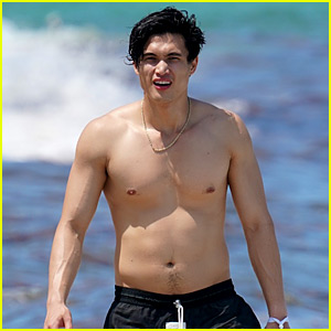 Riverdale's Charles Melton Goes Shirtless at the Beach in Miami