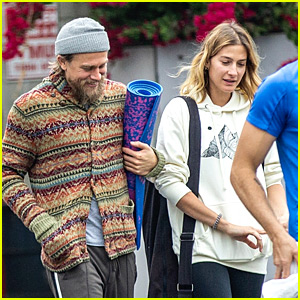 Charlie Hunnam Takes a Yoga Class with Friends
