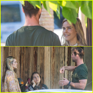 Chris Hemsworth Bumps Into Ex Isabel Lucas While Grabbing Coffee in Australia