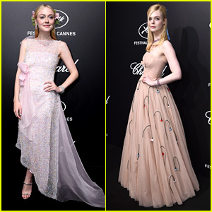 Dakota Fanning Joins Sister Elle For Cannes' Trophee Chopard Dinner