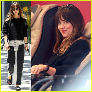 Dakota Johnson Steps Out for Some Mid-Week Pampering