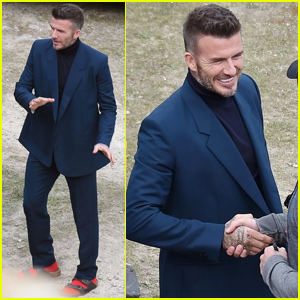 David Beckham Suits Up For 'House 99' Promo Shoot in England