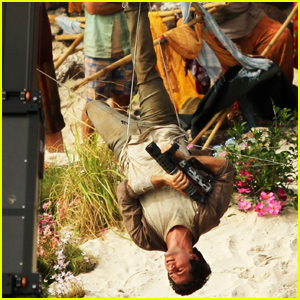 Dylan O'Brien Dangles Upside Down While Filming 'Monster Problems' in Australia