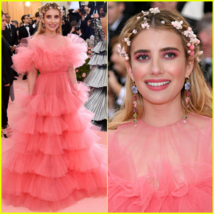 Emma Roberts Is Pretty in Pink at Met Gala 2019