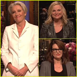 Emma Thompson is Joined by Amy Poehler & Tina Fey During 'Saturday Night Live' Monologue - Watch Now!