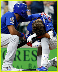 Baseball Player Albert Almora Jr Breaks Down on Field After Hitting Child with Foul Ball