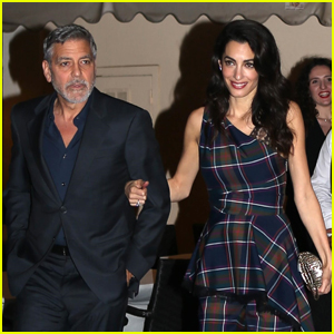 George & Amal Clooney Couple Up for Date Night in Rome!