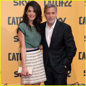 George & Amal Clooney Couple Up at 'Catch-22' Premiere in Rome