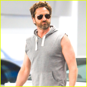 Gerard Butler Bares His Biceps During Afternoon Outing
