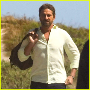 Gerard Butler Gets to Work on New Project in Malibu