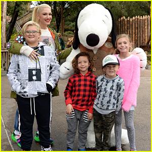 Gwen Stefani & Kids Celebrate Kingston's 13th Birthday at Knott's Berry Farm!
