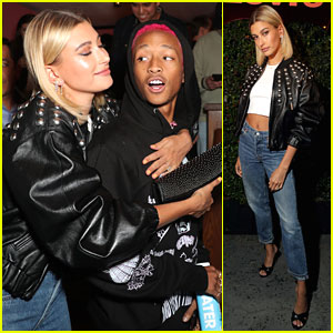 Hailey Bieber Celebrates New Levi's 501 Collection With Heron Preston