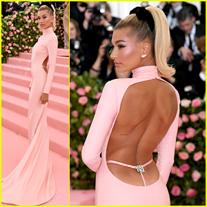 ba552b3d0c5b Hailey Bieber Wears Backless Dress at Met Gala 2019, Goes Solo Without  Justin