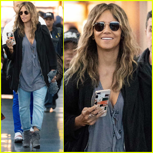 Halle Berry is All Smiles as She Jets into NYC