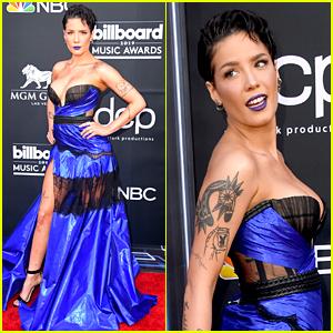Halsey Wears a Sexy Blue Dress to Billboard Music Awards 2019